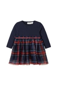 Dress checked tulle