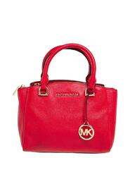 Pebbled Leather Small Maxine Satchel