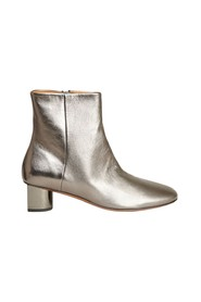Paige metallic leather ankle boots