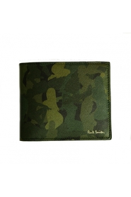 Green pinup camouflage card purse