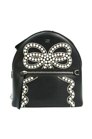 pre-owned By The Way Ribbon Pearl 8BZ038 Leather Backpack