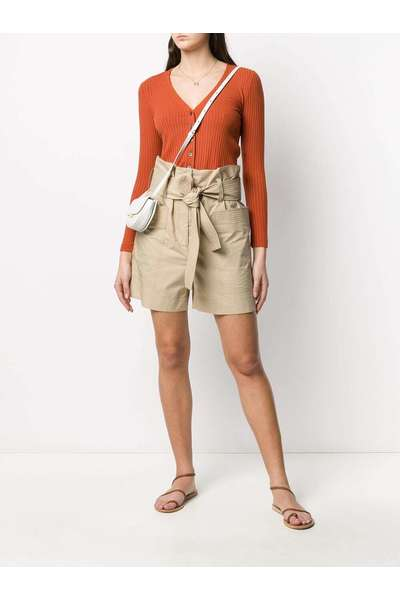 P.a.r.o.s.h. Beige Shorts Szorty Chinos - Beżowy