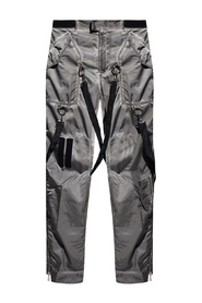 Trousers with decorative straps