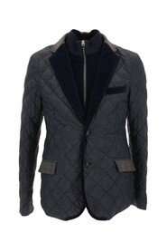 down quilted bomber jacket