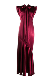 Bow neck gown
