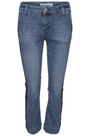 Mos Mosh Ivana Stripe Jeans Light Blue Denim