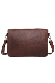 Adax - Catania Pilou Messenger Bag - Dark Brown
