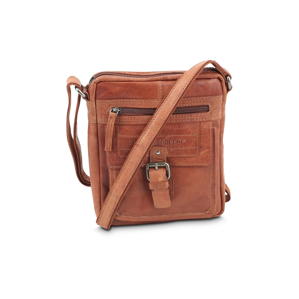 Crossbody skind brandy