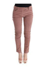 Velvet Cropped Casual Pants