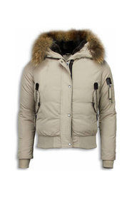 Quilted Winter Coat - With fur collar
