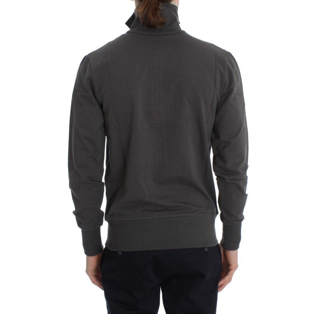 Aeronautica Militare Gray Stretch Full Zipper Sweater Aeronautica Militare