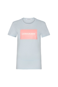 Lyseblå Calvin Klein Jeans Institutional Box Sl T-Shirts