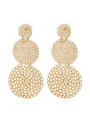 'Gourmette Double' gold-plated earrings