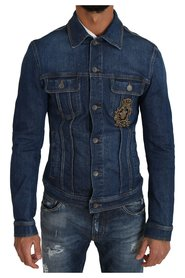 Denim Royal Crown Bee Logo Jacket