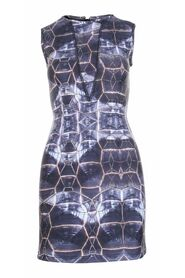 Pre-owned Abstract Printed Dress