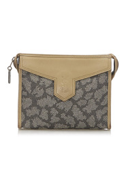Printed Leather Clutch Bag
