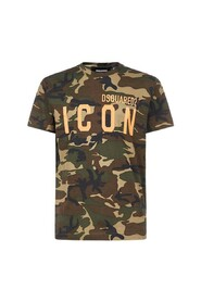 Icon camouflage print T-shirt