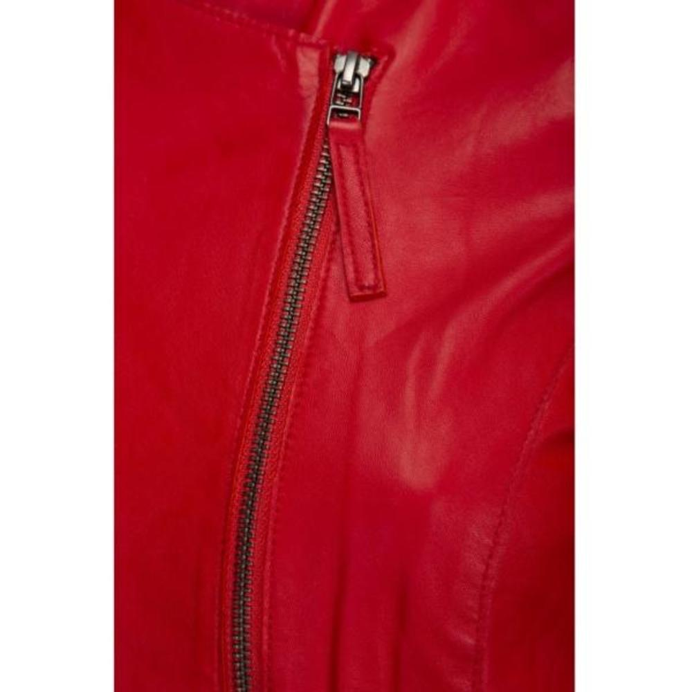 Red Leather jacket | ONSTAGE | Lederjacken | Damenbekleidung