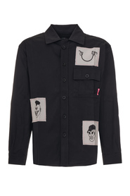 SHIRT WITH PRINTED PATCHES