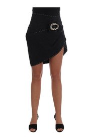 Jacquard Crystal Pencil Wrap Skirt