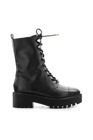 BRYCE BLACK LEATHER COMBAT BOOT