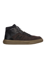 men's shoes high top leather trainers sneakers h365