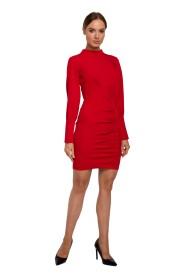 Sukienka Mini Ze Stójką
