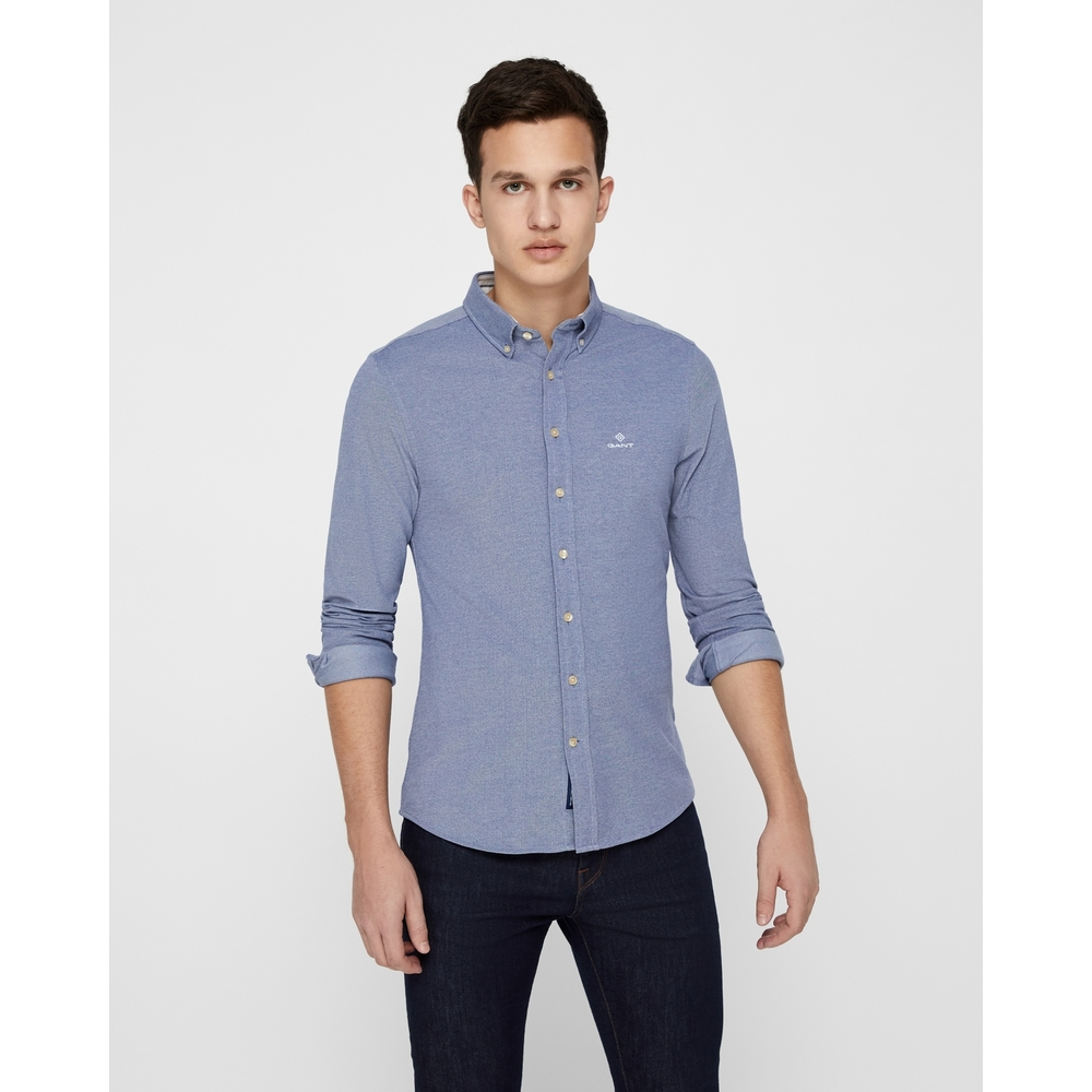 Långärmad tröja Pique Solid
