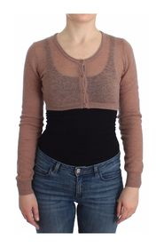 Lingerie Knit Cropped Sweater Cardigan