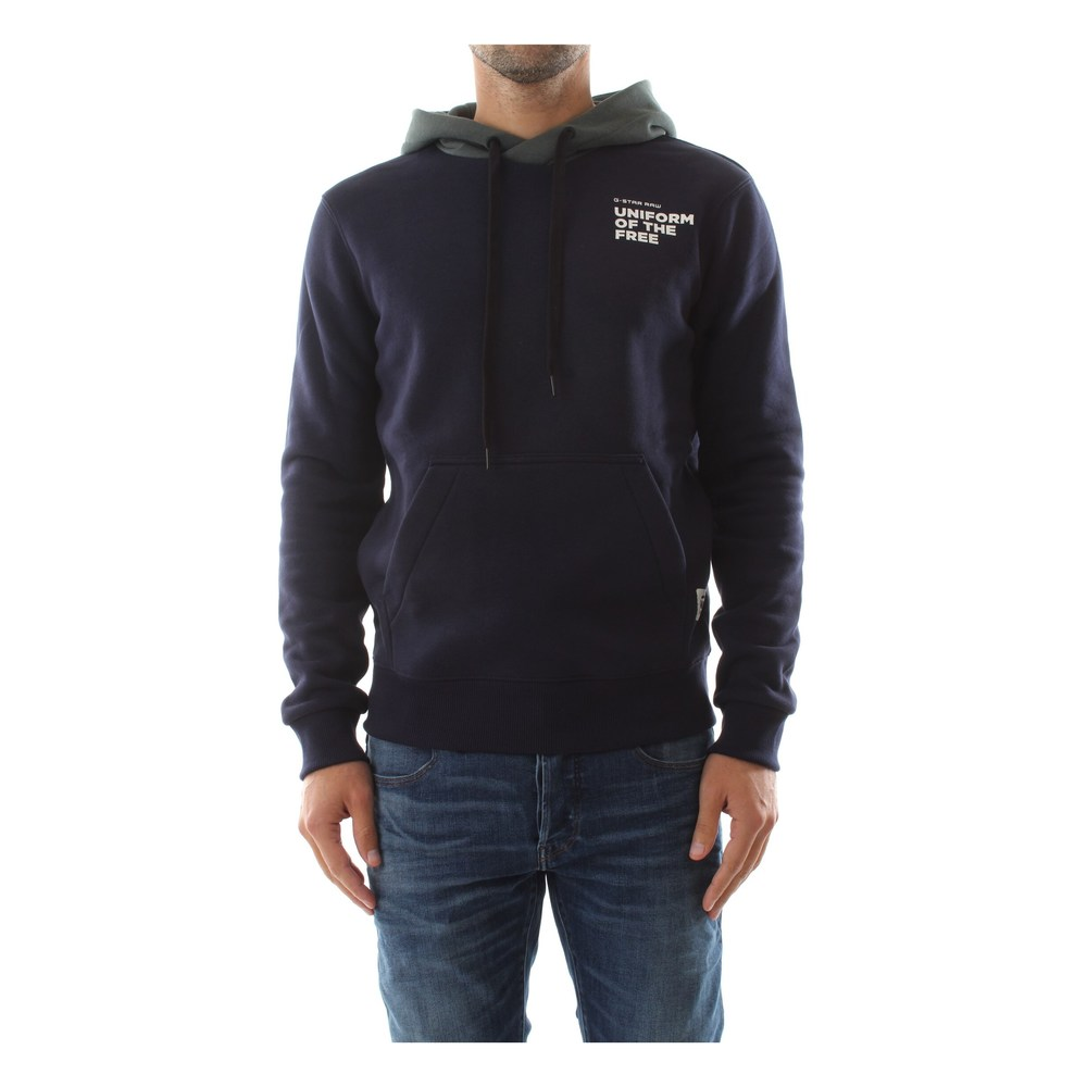 G-Star D11296 A433 Core Hooded Sweat Sweater Men Sartho Blue