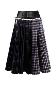 SPLIT DOUBLE ACCORDION SKIRT