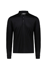 Polo shirt with pointed collar