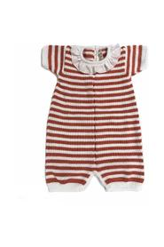 HORIZONTAL STRIPED CLOTH ROUCHES COLLAR