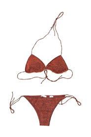 Textured fitted bikini