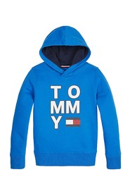 TOMMY HILFIGER KB0KB05479 GRAPHIC HOODIE SWEATER Unisex Boys IMPERIAL BLUE