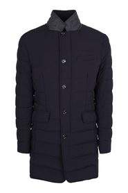 quilted mid-length padded coat