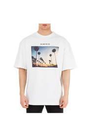 men's short sleeve t-shirt crew neckline jumper sunset