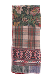 WASH PRINTED SCARF WITH FRINGES