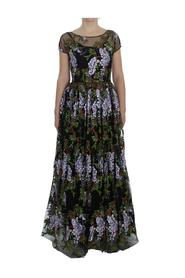 Floral Embroidered Full Maxi Dress