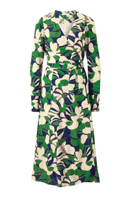 Wrap Dress with floral Print Midi