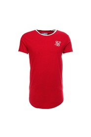 Rød Siksilk S/S Taped Runner Tee T-Skjorte