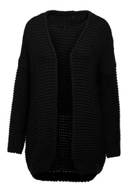 Rounded hem oversized cardigan