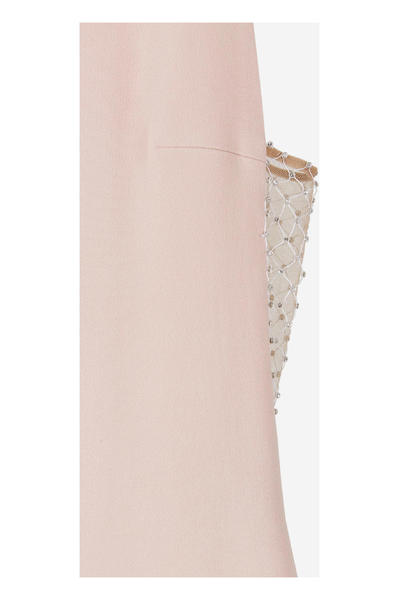 Nude Dress With Strass And Mesh Neck Stella Mccartney Maxikjoler