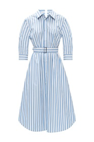Shirt dress with tie detail
