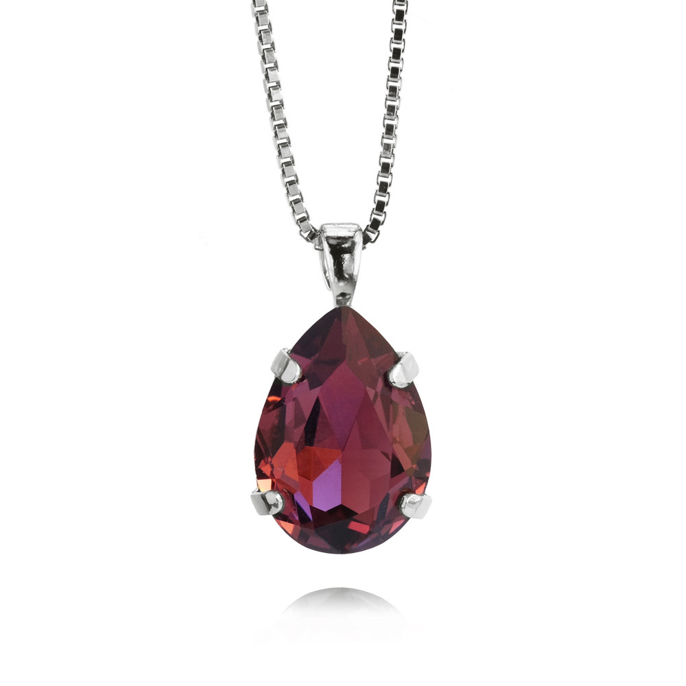 Caroline Svedbom Mini Drop Necklace Burgundy