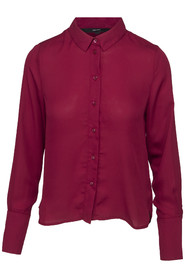 VeroModa Brita LS Shirt Rumba Red
