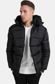 Only & Sons Heavy Puff Hood Jacka Black