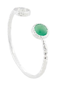 Star & Green Agate Bangle Bracelet