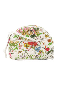 Flora Trapuntata Mini Canvas Crossbody Bag