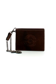 Biker wallet with leather chain